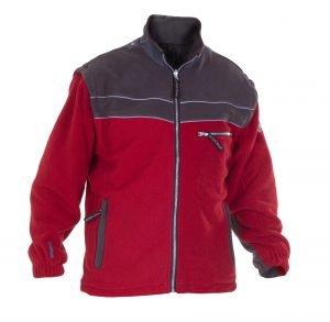Werkkleding Fleece Jack KIEL grijs/rood