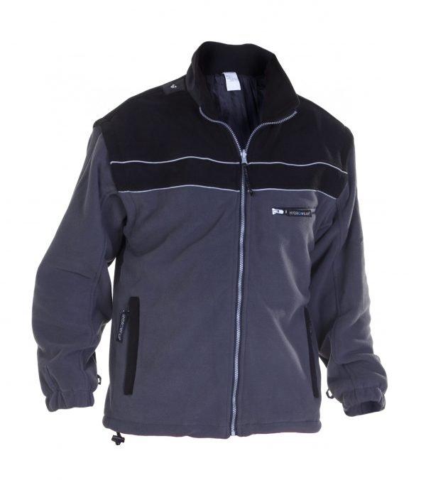 Werkkleding Fleece Jack KIEL grijs/zwart