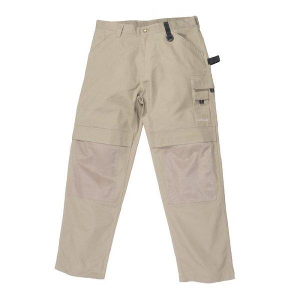 khaky kleur werk broek met kniestukken