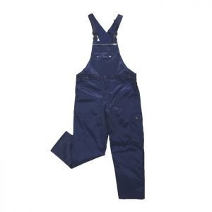 werk overall marine blauw met verstelbare taille