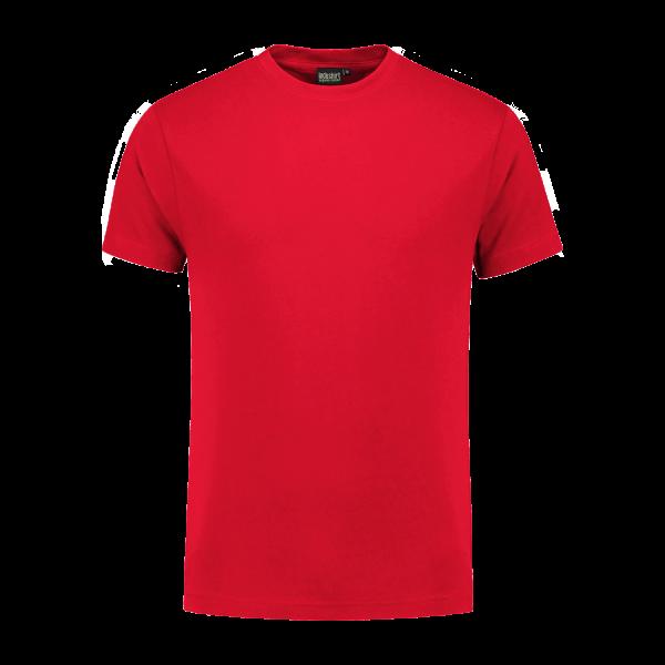 rood werk shirt met korte mouw