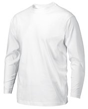 witte werk Shirt lange mouw