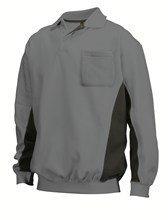 fleece sweatshirt grijs/zwart