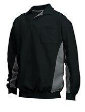 fleece sweatshirt zwart/grijs