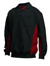 fleece sweatshirt zwart/rood