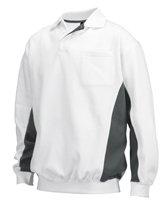 fleece sweatshirt wit/grijs