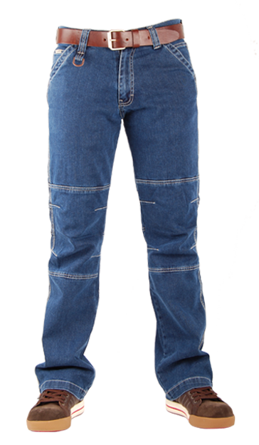 Regular fit denim werk jeans