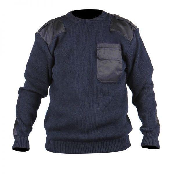 Commando pullover marineblauw