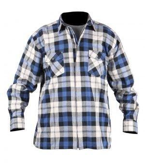 wit/blauw werkhemden van 100% katoen