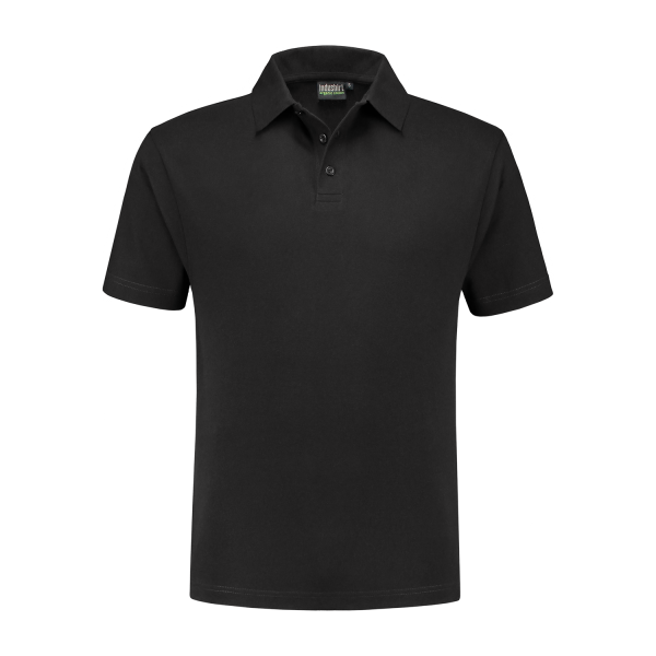 Antraciet polo shirt katoen / polyester