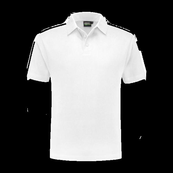 witte werkpolo biologisch katoen/ polyester