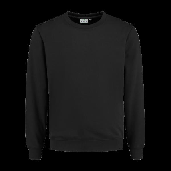 Antraciet Organic longsleeve sweatshirt