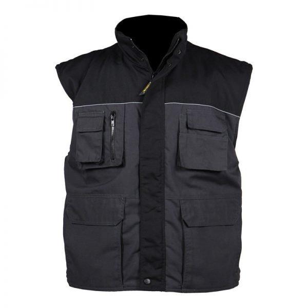 grijs bodywarmer heren katoen/polyester