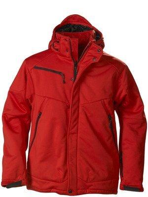 rode polyester gevoerd soft shell jack