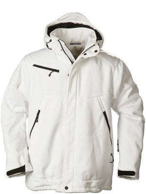 wit gevoerde polyester soft shell jack