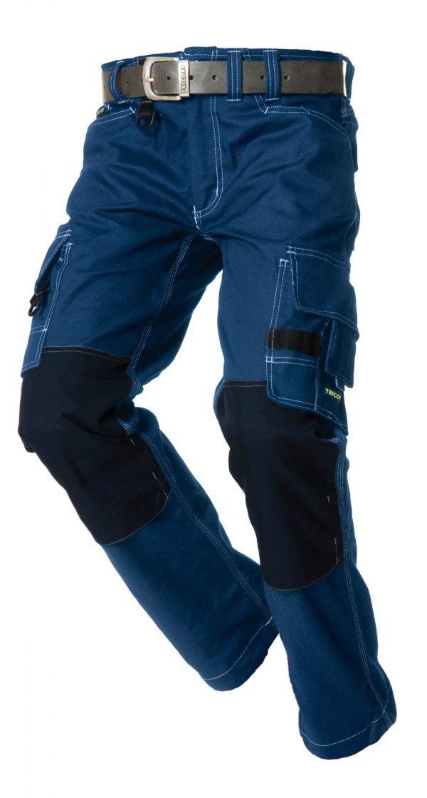 marineblauw werkbroek in canvas look