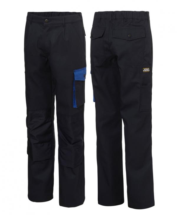 marine blauwe werk broek met cordura zakken