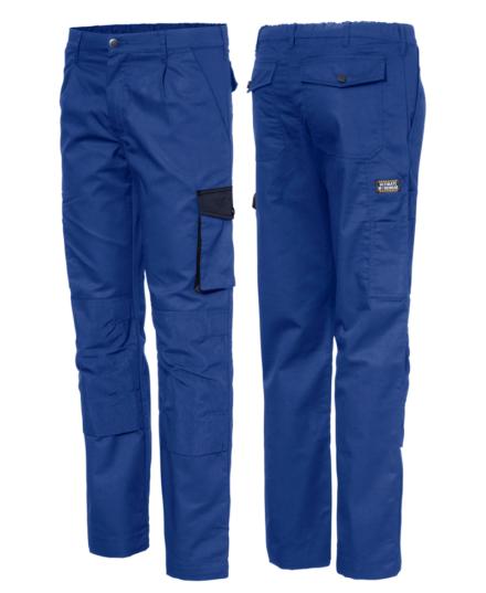 werkbroek met kniezakken blauw