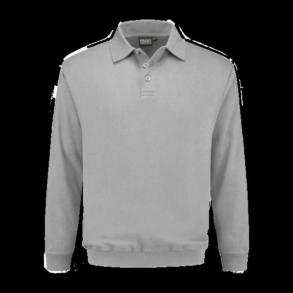Polo Sweatshirt lichtgrijs