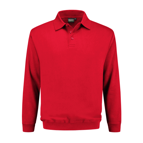 Polo Sweatshirt rood
