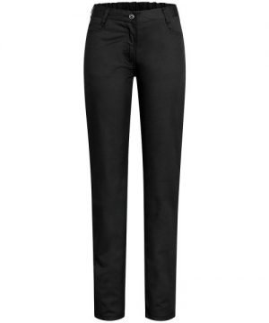 Zwarte dames pantalon 5-pocket NEGRONI-0