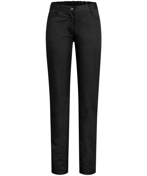 Zwarte dames pantalon 5-pocket NEGRONI-0