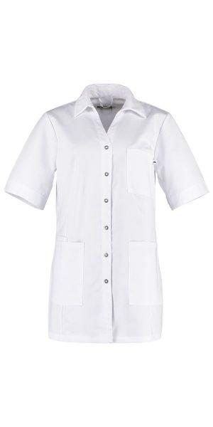 nette wit zorg jasje korte mouw met V-hals
