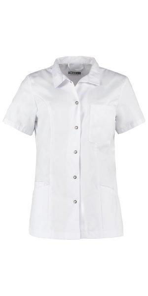 Wit uniform jasje voor de zorg