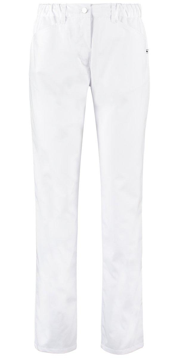 witte dames pantalon PEARL voor de zorg met elatiek
