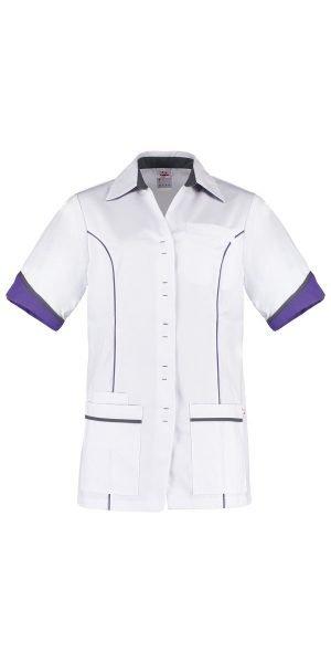 Wit met paars dames tuniek voor de zorg CHANEL
