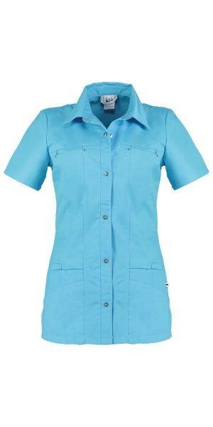 turquoise zorguniform voor dames