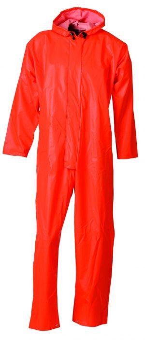 EN465 oranje (regen) overal met capuchon