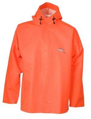 Oranje ELKA regenjack met capuchon