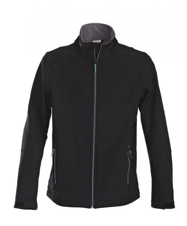 softshell jas zwart voor mannen