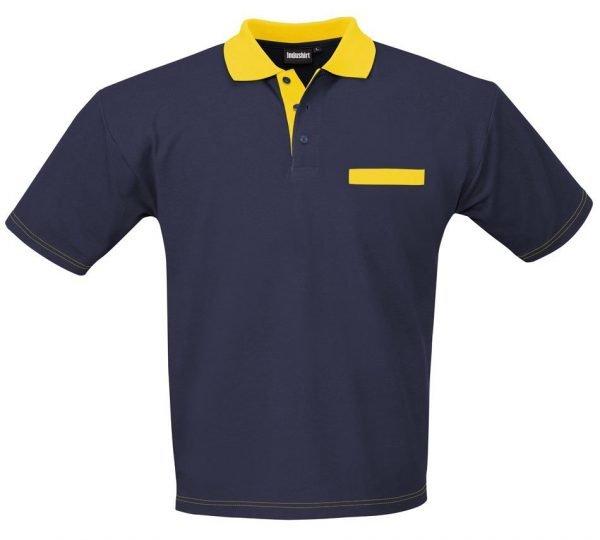 blauw / geel polo