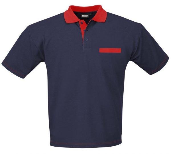 polo shirt met rode accentkleur