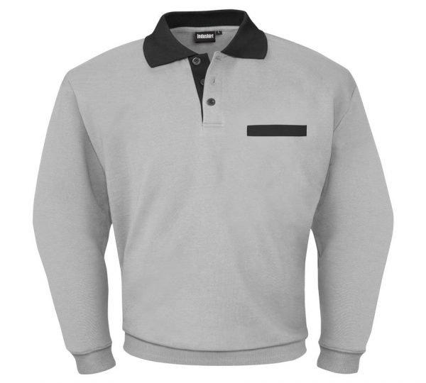 grijs zwarte werk shirt met lange mouwen