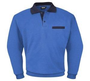 Blauwe heren sweater lange mouw