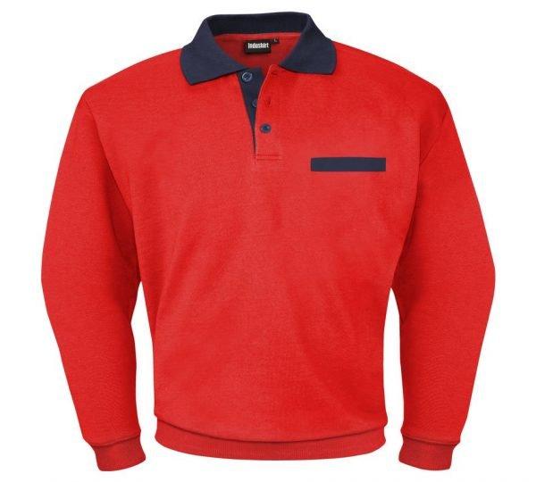 rode sweater met lange mouwen