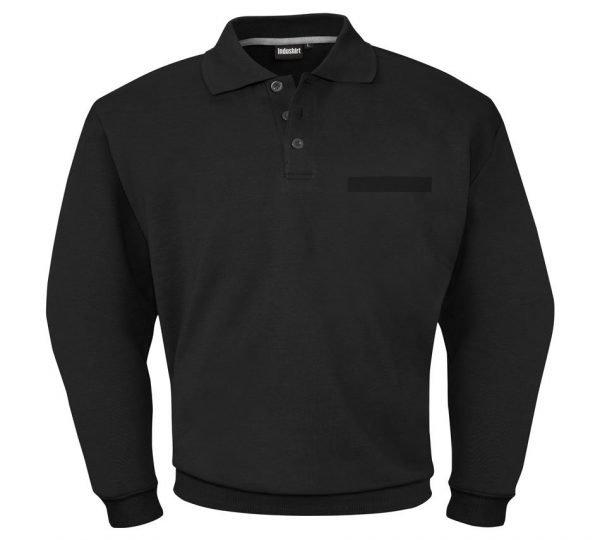 katoenen zwart werkshirt met lange mouwen