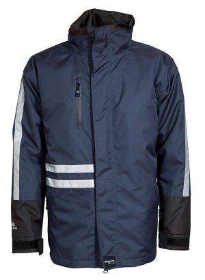 2-in1 Elka winterjas met uitneembare voering navy-blauw/zwart