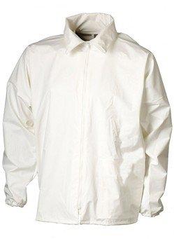 Witte waterdichte werkjack schoonmaakleding