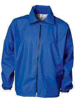 Marine blauw jack met bescherming tegen vloeibare chemicaliën