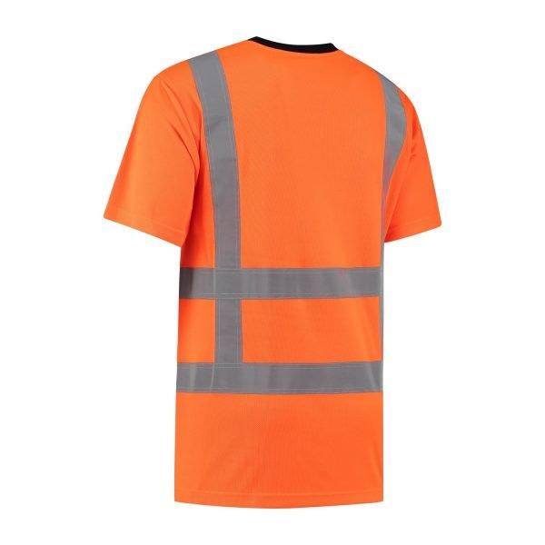 high visibility oranje shirt