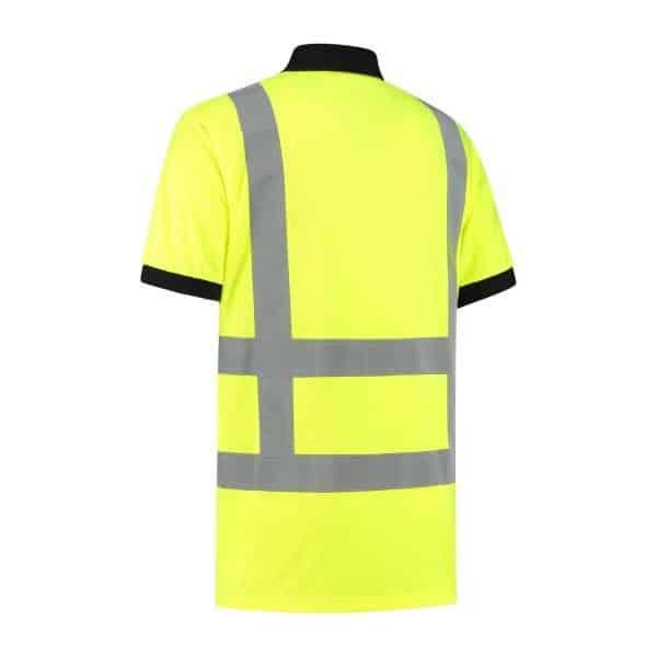 Poloshirt high visibility RWS geel