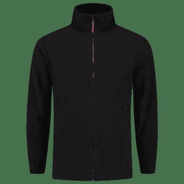 Zwart fleece vest